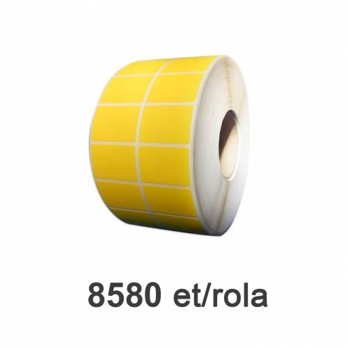 Role De Etichete Pe Autodistructibile Galbene 50x32mm 8580 Et./rola