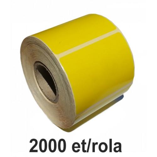 Role Etichete Semilucioase Zinta Galbene 100x100mm 2000 Et./rola