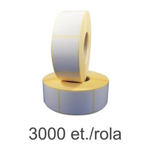 Role etichete semilucioase ZINTA 38x58mm 3000 et./rola
