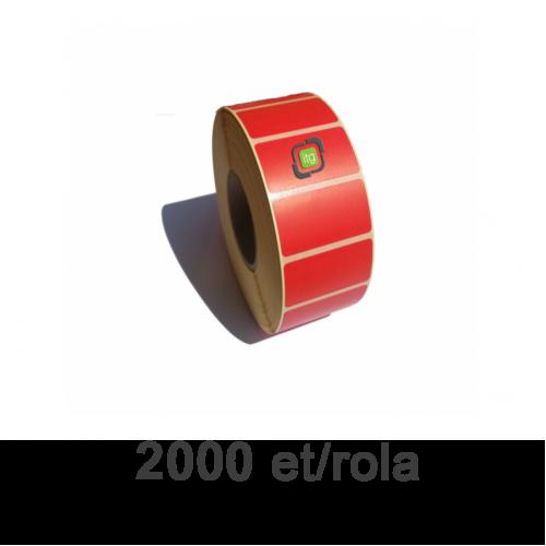 Role etichete termice ZINTA rosii 40x21mm 2000 et./rola